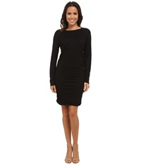 Allen Allen Ruched Dress Black Women's Dress