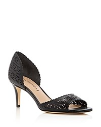 Via Spiga Lysette Perforated D'orsay Pumps 100 Bloomingdale's Exclusive Black