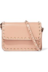 Valentino The Rockstud Mini Leather Shoulder Bag Peach