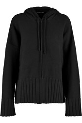 Alexander Wang Cotton Blend Hooded Top Black