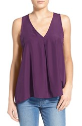 Women's Painted Threads Pleated Tank Burgundy