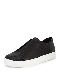 Eileen Fisher Rad Perforated Leather Sneaker Black