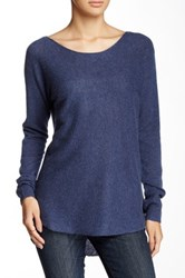 14Th And Union Hi Lo Cashmere Sweater Blue
