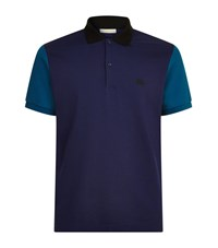 Burberry Two Tone Polo Shirt Male Navy