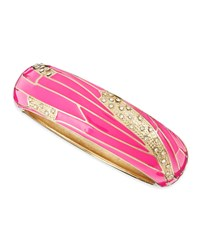Wide Insect Wing Bangle Pink Sequin