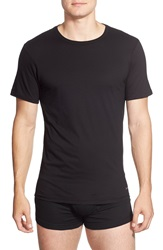 Calvin Klein Slim Fit Cotton Crewneck T Shirt 3 Pack Black