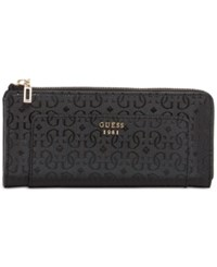 Guess Marian Slim Zip Wallet Black