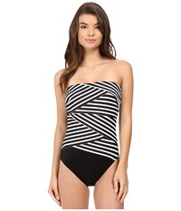 Miraclesuit New Directions Muse One Piece Black White Women's Swimsuits One Piece