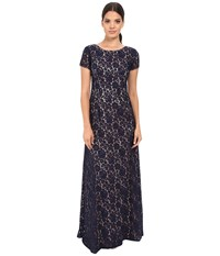 Donna Morgan Alice Cap Sleeve Dress Indigo Women's Dress Blue
