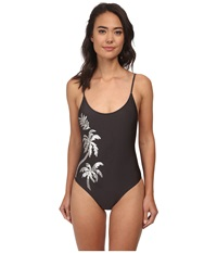 Amuse Society Rory Sequin One Piece Charcoal Women's Swimsuits One Piece Gray