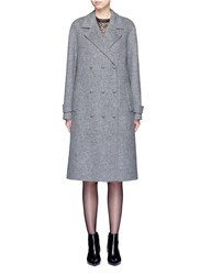 Alexander Wang Oversized Triple Breasted Trench Coat Grey