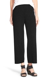 Petite Women's Eileen Fisher Straight Leg Crop Merino Knit Pants