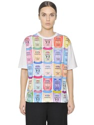 Y 3 Can Printed Cotton Jersey T Shirt
