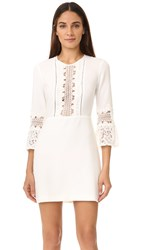 Wayf Somerset Lace Trim Dress Ivory
