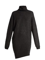Acne Studios Daija High Neck Sweater Dress Black