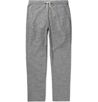 Oliver Spencer Loungewear Pencer Pintriped Cotton Pyjama Trouer Navy