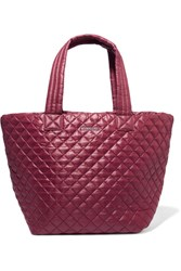 M Z Wallace Mz Metro Quilted Shell Tote Burgundy