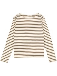 Fat Face Issey Stripe Crew Top Ivory