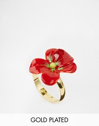 Les Nereides Flower Ring Red