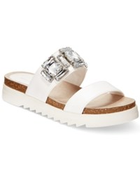 Seven Dials Mazel Jeweled Footbed Sandals Women's Shoes White