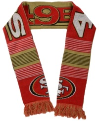 Forever Collectibles San Francisco 49Ers Reversible Split Logo Scarf Red