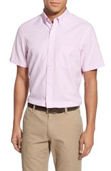 Men's Nordstrom Men's Shop Trim Fit Oxford Sport Shirt Pink Lavender