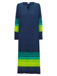 East Maxi Kaftan Dress Navy