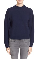 Frame Women's Rib Knit Crop Cashmere Sweater