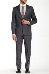 Vince Camuto Notch Lapel Two Button Wool Suit Gray