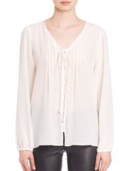 Set Silk Pleated Blouse Off White