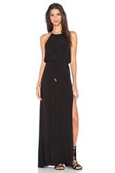 Pink Stitch Gin Maxi Dress Black