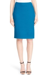 Women's St. John Collection Textural Twill Pencil Skirt