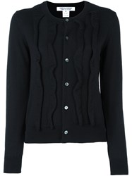 Comme Des Garcons Ruffled Cardigan Black