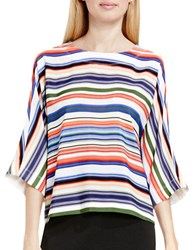 Vince Camuto Escape Dolman Sleeve Striped Blouse White