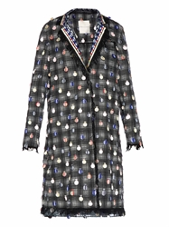 Marco De Vincenzo Embellished Check Coat