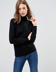 Minimum Eve Wool And Cashmere Mix Roll Neck Jumper In Black N A