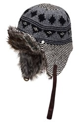 Men's Bickley Mitchell Faux Fur Trapper Hat Black