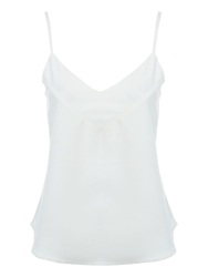 Jane Norman Low V Camisole Top White