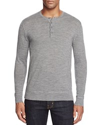 Bloomingdale's The Men's Store At Merino Wool Henley Heather Grey