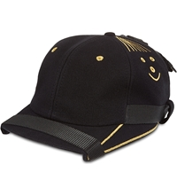 Nasir Mazhar Exclusive Smiley Face Cap Black Gold