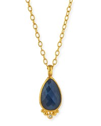 Elements Rose Cut Blue Sapphire Pendant Necklace Gurhan