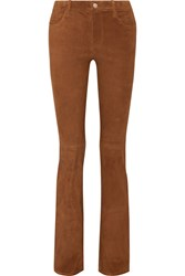 J Brand Brya Suede Bootcut Pants Brown