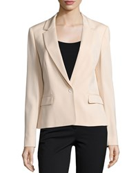 Michael Kors One Button Long Sleeve Jacket Nude Brown