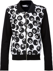 Jeremy Scott 8 Ball Print Jacket Black