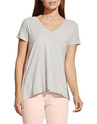 Vince Camuto Back Pleated Tee Grey
