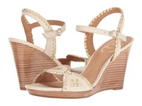 Jack Rogers Clare Bone Gold Women's Dress Sandals