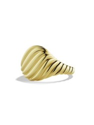 David Yurman Sculpted Cable Pinky Ring In Gold