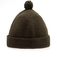 Nigel Cabourn Solid Pom Pom Hat Green