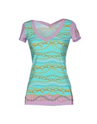 Vdp Beach T Shirts Turquoise