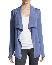 Marc Ny Performance Draped Fleece Cardigan Denim